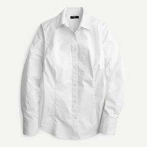 J Crew Curvy Perfect Shirt White Size 14